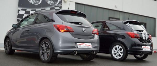 Duplex-Sportendschalldämpfer Opel Corsa E