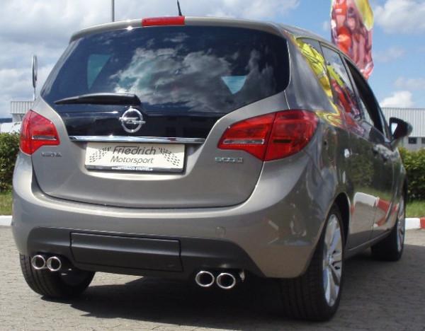 Duplex Sportendschalldämpfer Opel Meriva B