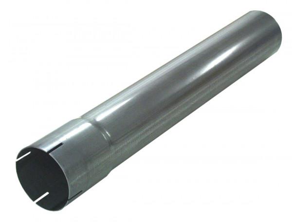"""3"""" 500mm Auspuffrohr mit Muffe aluminierter Stahl"""