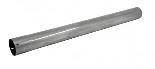 """3.5"""" 1000mm Auspuffrohr mit Muffe aluminierter Stahl"""