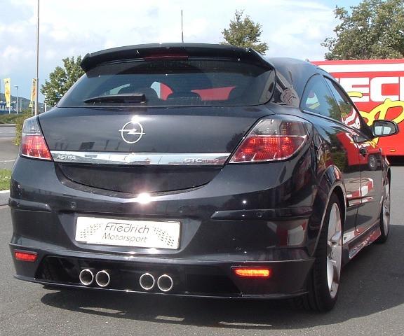 Duplex Sportendschalldämpfer Opel Astra H GTC