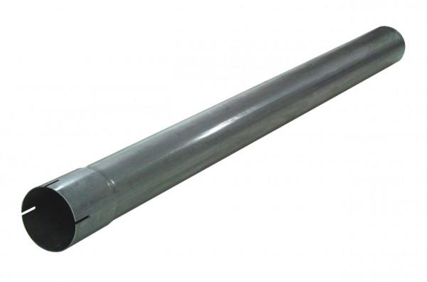"""3"""" 1000mm Auspuffrohr mit Muffe aluminierter Stahl"""