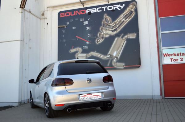 Duplex Sportendschalldämpfer VW Golf VI Cabrio