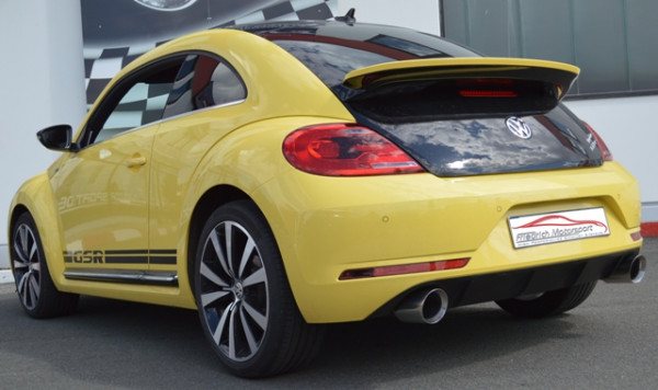 Duplex Sportendschalldämpfer VW Beetle 5C und Cabrio inkl. Dune