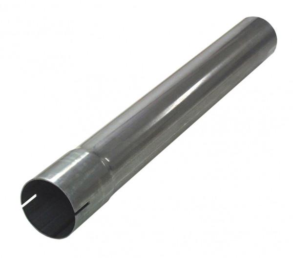 """2.5"""" 500mm Auspuffrohr mit Muffe aluminierter Stahl"""