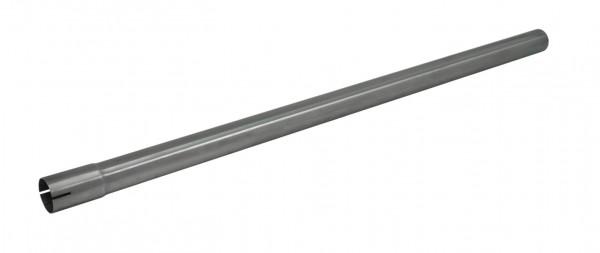 """1 3/4"""" 1000mm Auspuffrohr mit Muffe aluminierter Stahl"""