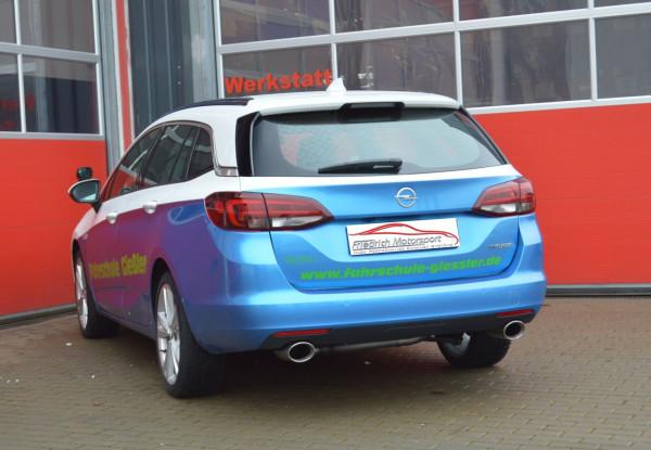 Duplex Endrohrsystem Opel Astra K Sports Tourer