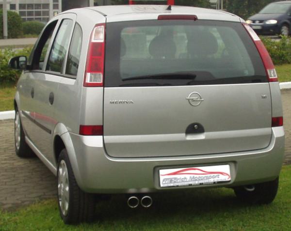 Sportendschalldämpfer Opel Meriva A