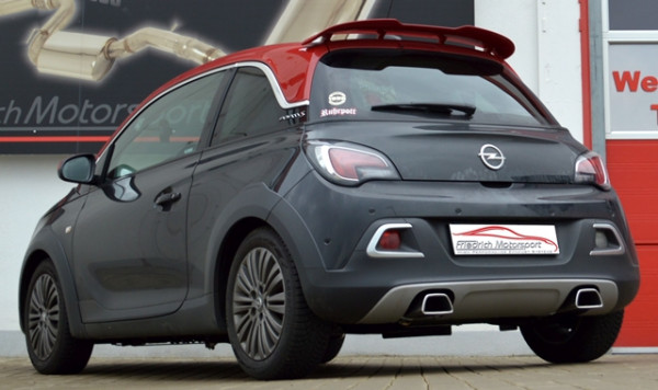 Duplex-Sportendschalldämpfer Opel ADAM S / ROCKS S