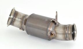90mm Downpipe mit 200 Zellen HJS Sport-Kat. Edelstahl