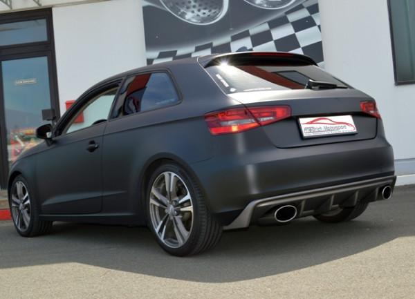 Duplex-Sportendschalldämpfer Audi A3 8V 3-Türer Frontantrieb