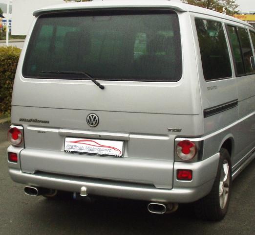 Duplex Sportendschalldämpfer VW T4 Bus
