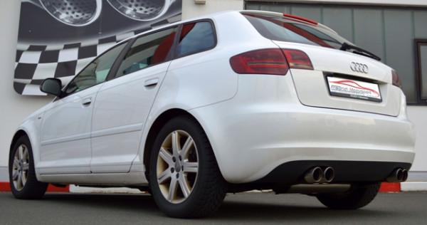 Duplex Sportendschalldämpfer Audi A3 8P Sportback