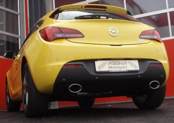Duplex Sportendschalldämpfer Opel Astra J GTC